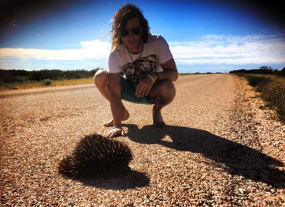 jake-with-echidna-road-trip-the-magic-bus